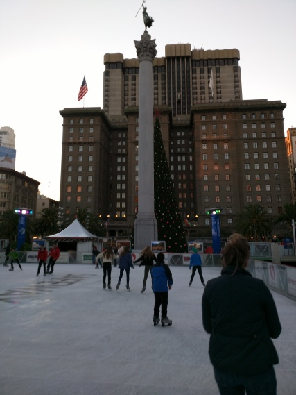 Ice skating in Civic Center