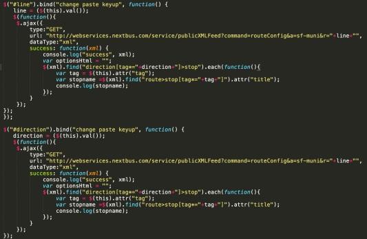 javascriptStops